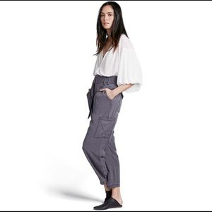 Free People Soft Slouchy Cargo Pants Size 6 Gray